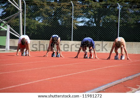 Shutterstock mans on the starting lines