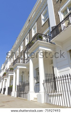 Mansion blocks in West London