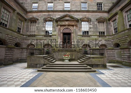 mansion manor house at lyme park in stockport