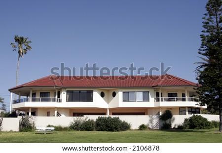 Mansion, Villa With Clear Blue Sky Background, Sydney, Australia - stock photo