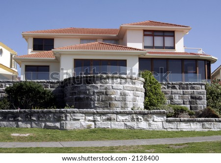 Mansion, Villa With Clear Blue Sky Background, Sydney, Australia