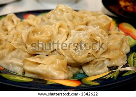 Mantu - traditional central asian food