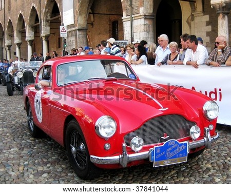 Mantua - September 18: 1957 Aston Martin Db 2/4 Mk Iii At Veteran Cars ...