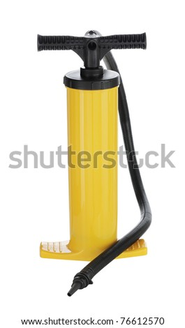 Manual air pump for inflating airbeds, beach balls etc.