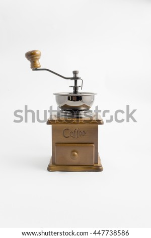 Manual coffee grinder - front #447738586