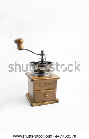 Manual coffee grinder - side #447738598