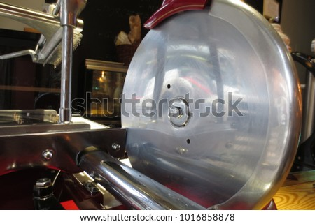 Manual machine to cut ham #1016858878