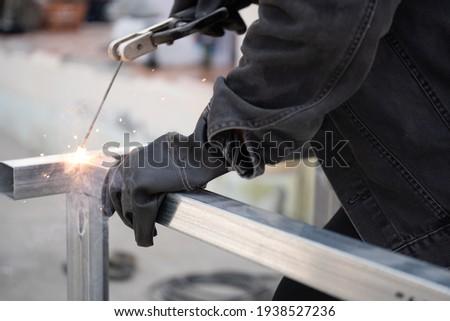 Manual Metal Arc Welding rack Photo stock ©