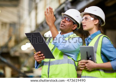 Manual workers working