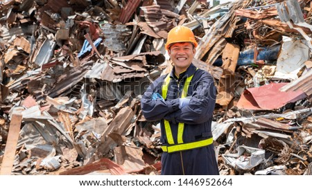 Manufacture worker check recycled plastic product the waste recycling plant,Recycling is processing used materials. #1446952664