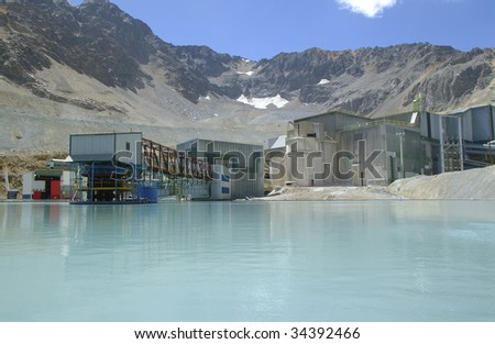 manufacturing plant in the mountain mining processes