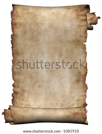 Manuscript, Burnt Rough Roll Of Parchment Paper Texture Background ...