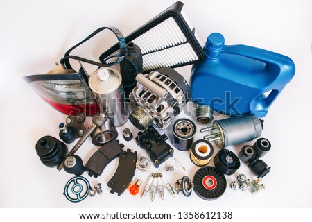 Many auto spare parts Сток-фото ©