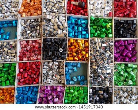 Many background patterns, many nut colors