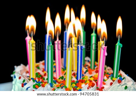 many candle on a a birthday cake