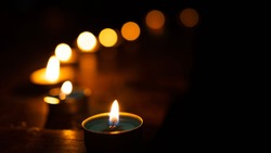 many candles in the dark