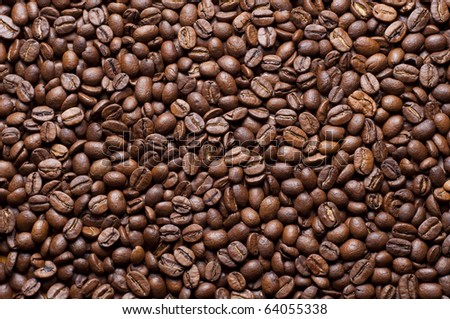 Many coffe beans for background