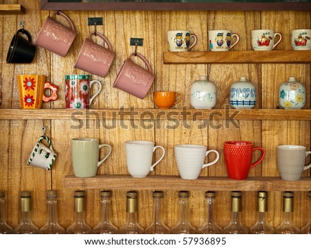 coffee cup display shelves 3