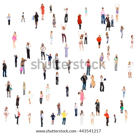 Many Colleagues People Diversity  - Shutterstock ID 443541217