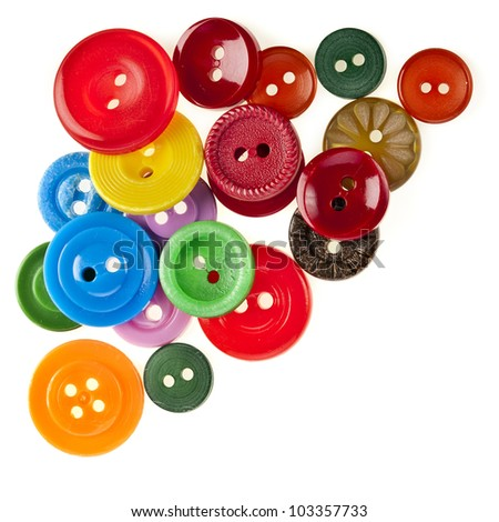 many color buttons  on white background