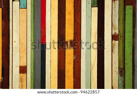 many color of old wood background