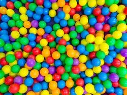Many colorful plastic balls