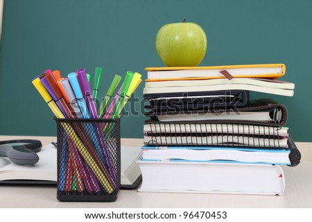 Many Colorful stationery of an assortment on a table.