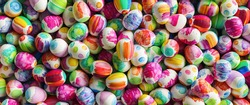 many colorful watercolor easter eggs, Panorama banner size