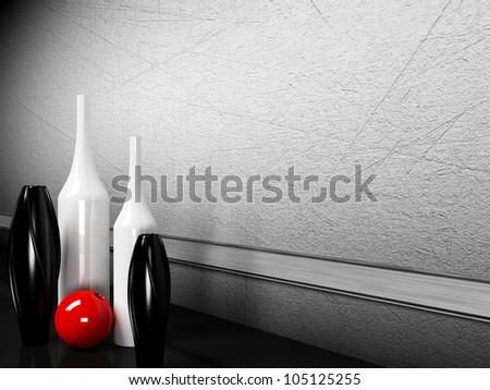 many creative vases on the floor