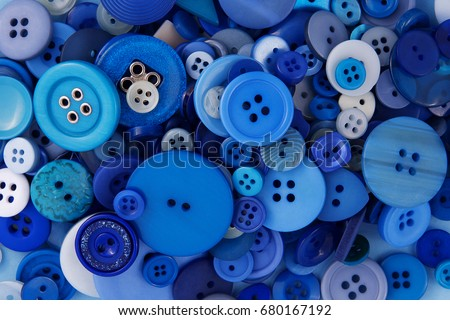 many different blue buttons...
