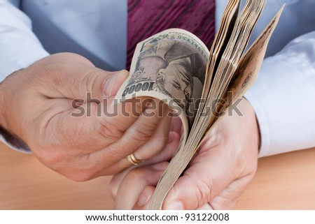 many dollar bills are counted. keep money in your hands