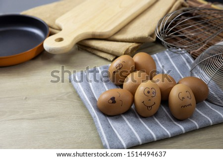 Many eggs and many emotions were placed on the cooking table.