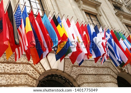 Many flags of the OECD countries #1401775049