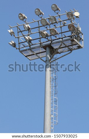 many floodlights in the pole at stadium #1507933025