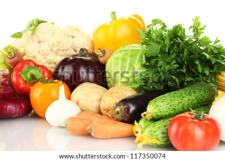 Many fresh vegetables close-up