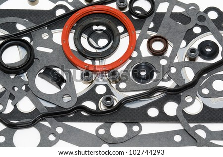 many gaskets - a kit for car motor engines