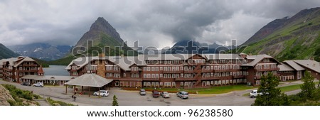 Many Glacier Hotel in Glacier NP in MT