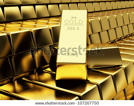 Many Gold bars