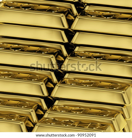 Many Gold Bars As Symbol For Wealth Or Fortune