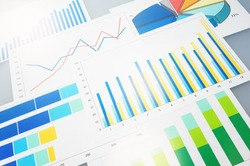 Many graphs. Analyzing finances.