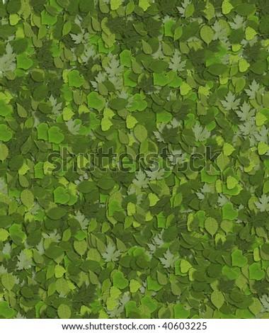 Many green leaves asa background. - stock photo