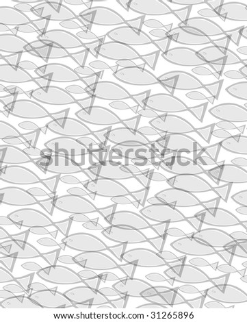 many grey fishes in different sizes swimming in a group