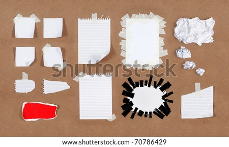 Many kind of different type of papers