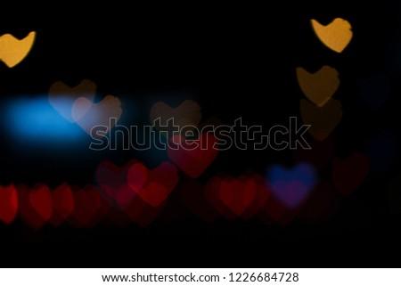 many love bokeh light in the night #1226684728
