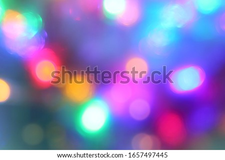 many multicolored abstractly blurry lights. festive extravaganza Stockfoto ©