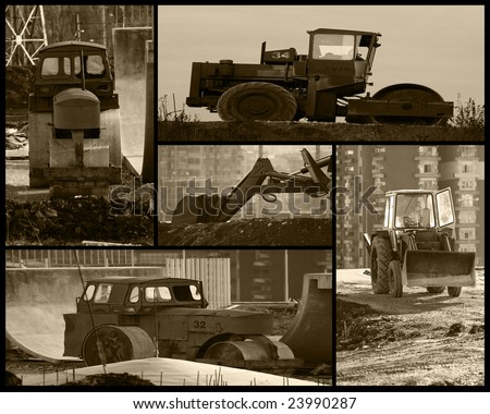 many old  steam roller image