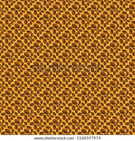 Many ovals of different sizes on a yellow background. Abstract bitmap of yellow, brown and dark brown colors.