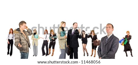 "many people - diversity in business concept  - See similar images of this ""Business People"" series in my portfolio"