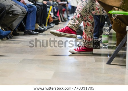 Many people in a waiting room to see a doctor #778331905