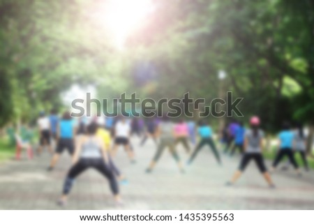 Many people participate in aerobic activities.